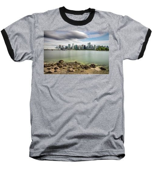 Baseball T-Shirt featuring the photograph Long Exposure Of Vancouver City by Pierre Leclerc Photography