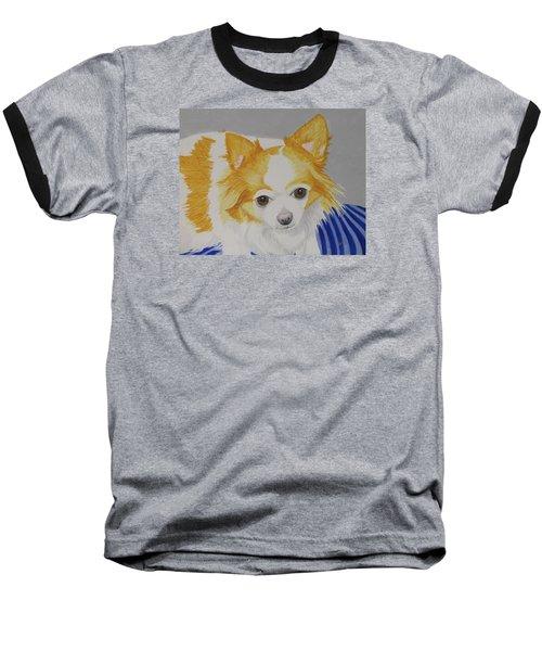 Long-haired Chihuahua Baseball T-Shirt