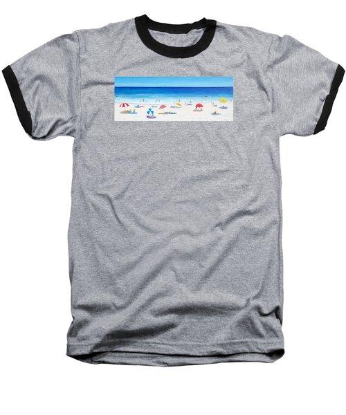Long Hot Summer Baseball T-Shirt by Jan Matson