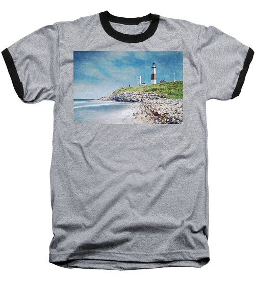 Long Island Lighthouse Baseball T-Shirt by Kai Saarto