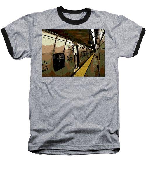 Long Island Railroad Baseball T-Shirt by George Pedro