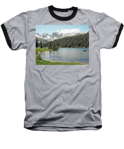 Long Lake Splender Baseball T-Shirt by Joseph Hendrix