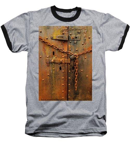 Long Locked Iron Door Baseball T-Shirt