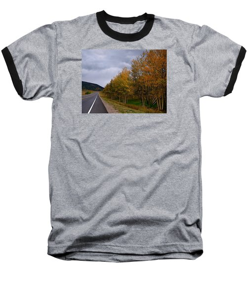 Baseball T-Shirt featuring the photograph Long Lonesome Hiway by Laura Ragland