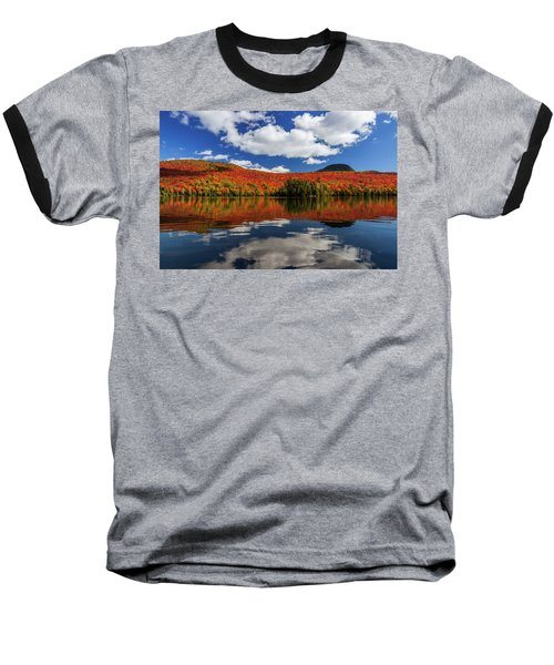 Long Pond And Clouds Baseball T-Shirt