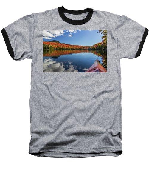 Long Pond From A Kayak Baseball T-Shirt by Tim Kirchoff