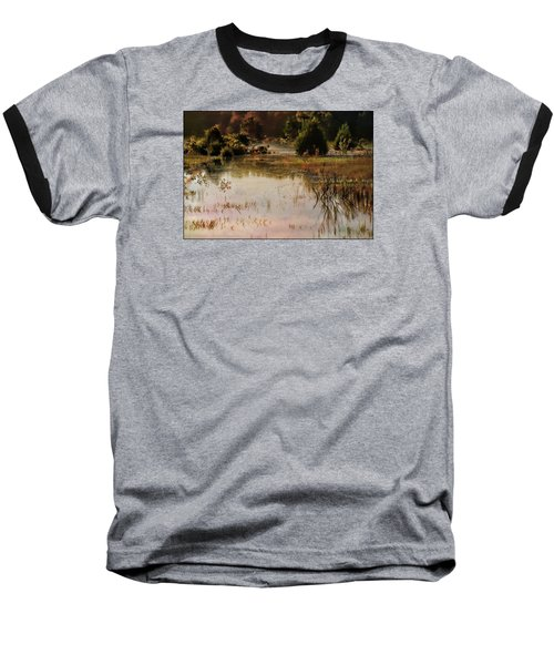 Long Pond Misty Morning Baseball T-Shirt