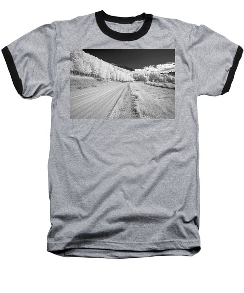 Baseball T-Shirt featuring the photograph Long Road In Colorado by Jon Glaser