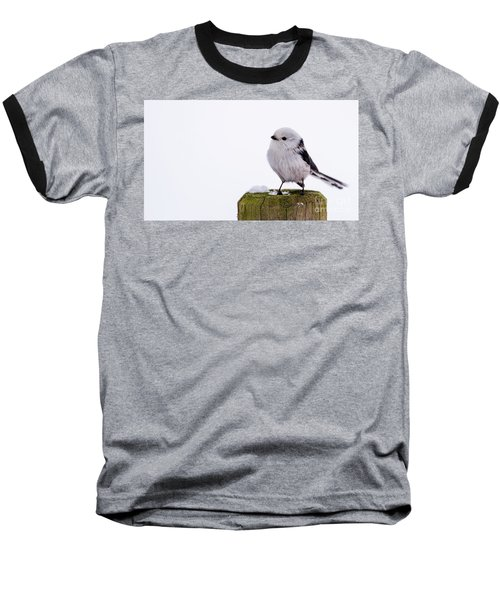 Baseball T-Shirt featuring the photograph Long-tailed Tit On The Pole by Torbjorn Swenelius