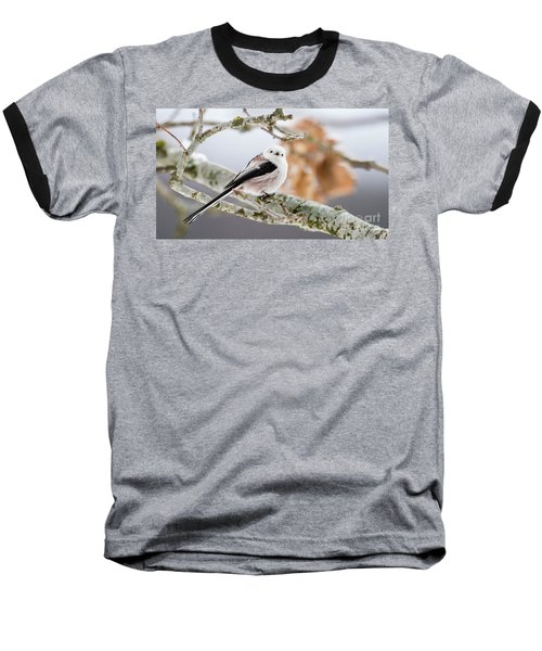 Baseball T-Shirt featuring the photograph Long-tailed Tit by Torbjorn Swenelius