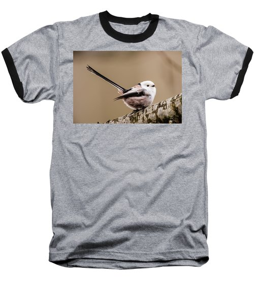 Baseball T-Shirt featuring the photograph Long-tailed Tit Wag The Tail by Torbjorn Swenelius
