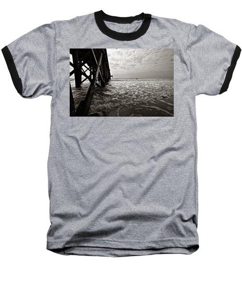 Long To Surf Baseball T-Shirt by David Sutton