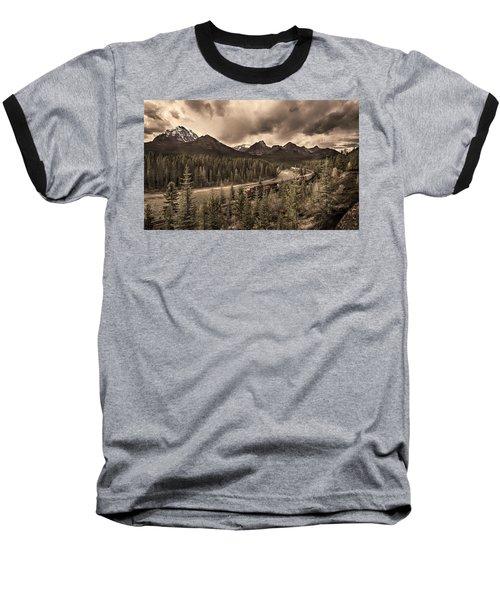 Baseball T-Shirt featuring the photograph Long Train Running by John Poon