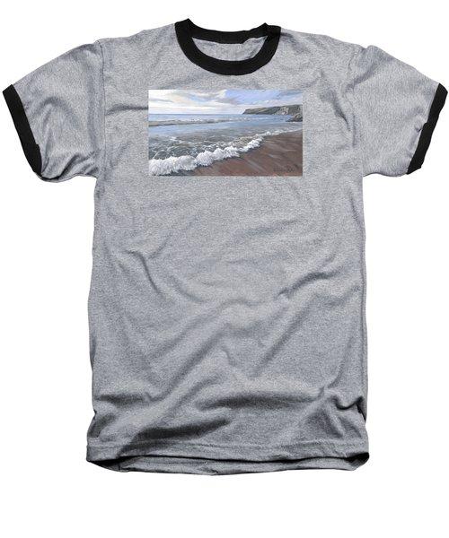 Long Waves At Trebarwith Baseball T-Shirt