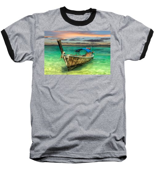 Longboat Sunset Baseball T-Shirt