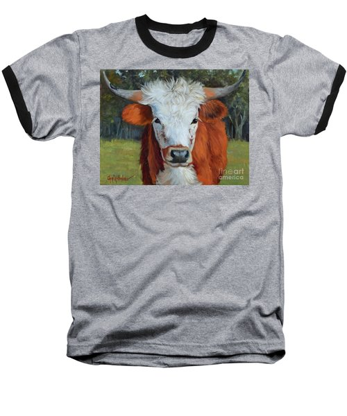 Longhorn Cow Painting II, Ms Tilly  Baseball T-Shirt