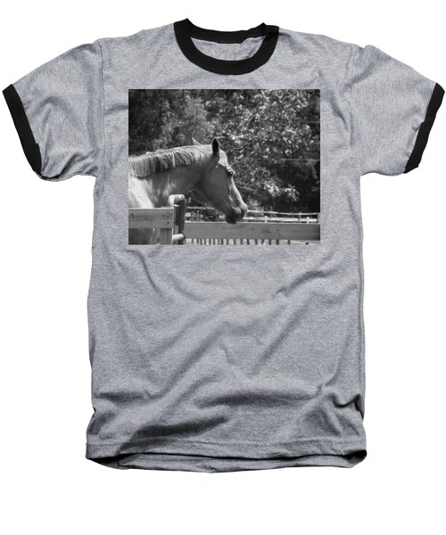 Baseball T-Shirt featuring the photograph Longing by Sandi OReilly