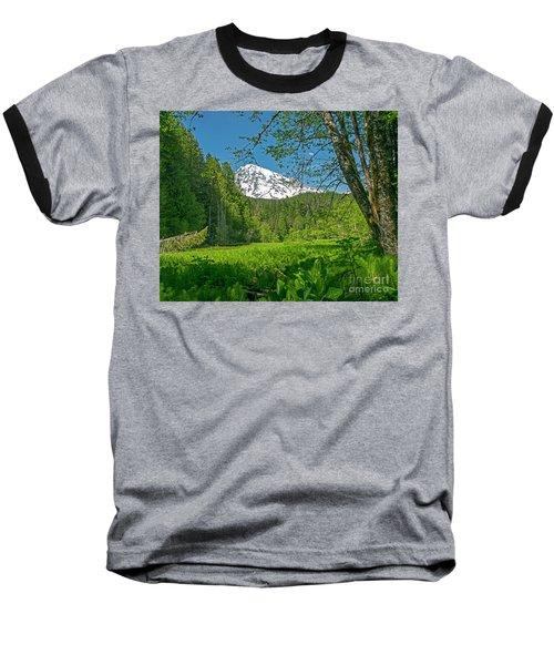 Longmire Meadows 0761 Baseball T-Shirt by Chuck Flewelling