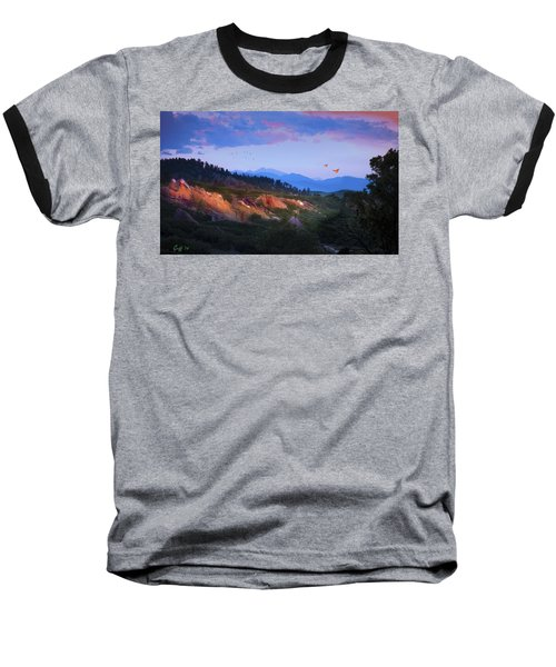 Longs Peak And Glowing Rocks Baseball T-Shirt by J Griff Griffin