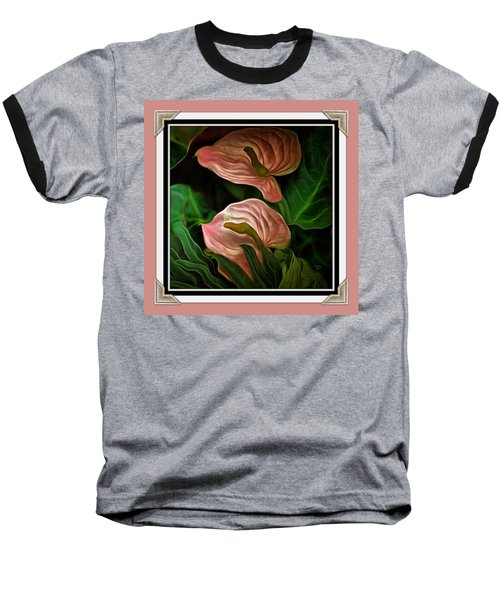 Baseball T-Shirt featuring the mixed media Longwood Lilies by Trish Tritz