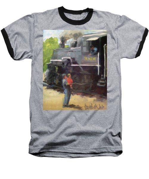 Look At The Train Baseball T-Shirt