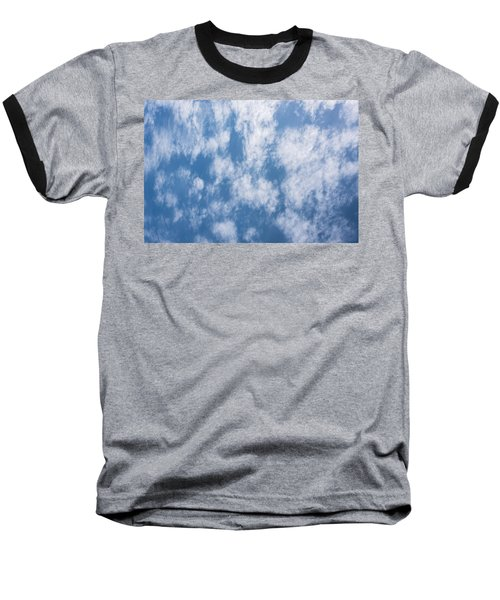 Look Up Not Down Clouds Baseball T-Shirt by Terry DeLuco