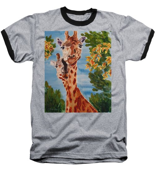 Baseball T-Shirt featuring the painting Lookin Back by Karen Ilari