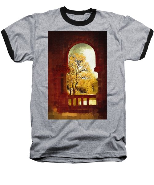 Lookin Out Baseball T-Shirt by Holly Ethan