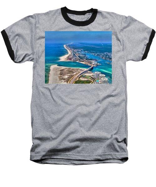 Looking West Across Perdio Pass Baseball T-Shirt