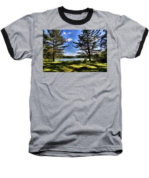 Looking At The Moose River Baseball T-Shirt by David Patterson