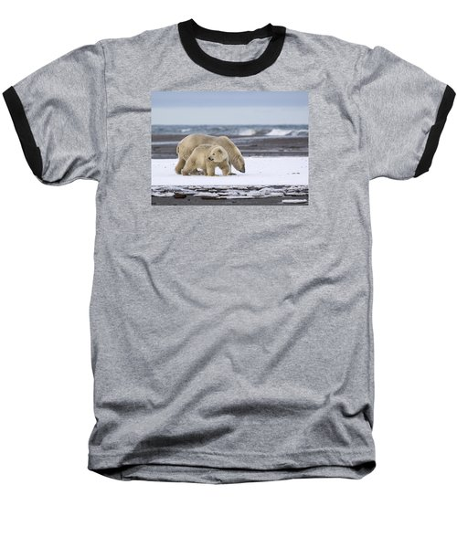 Looking Back In The Arctic Baseball T-Shirt