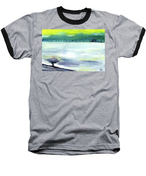 Baseball T-Shirt featuring the painting Looking Beyond by Anil Nene