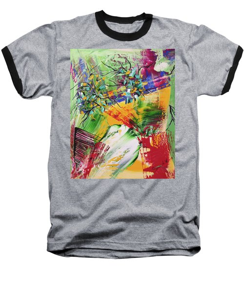 Baseball T-Shirt featuring the painting Looking Beyound The Present by Sima Amid Wewetzer