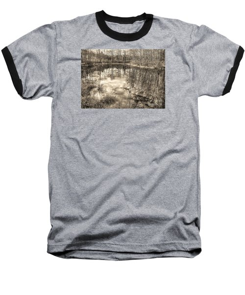 Looking Down Baseball T-Shirt by Betsy Zimmerli