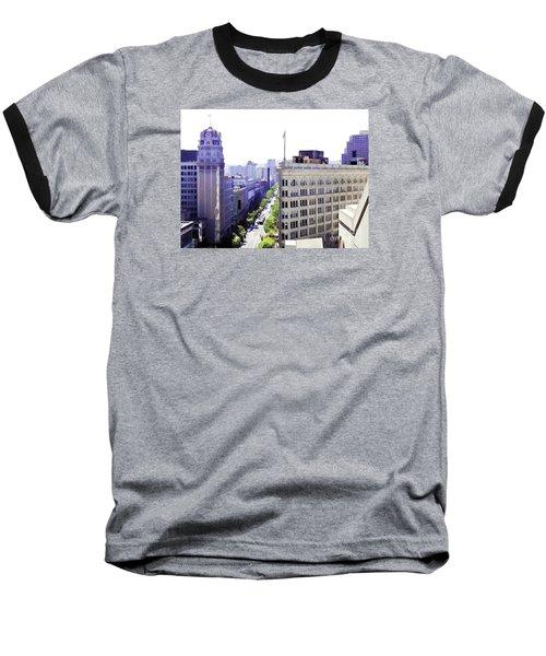 Looking Down Market Baseball T-Shirt
