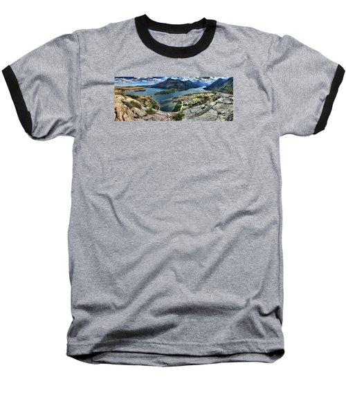 Looking Down On Waterton Lakes Baseball T-Shirt