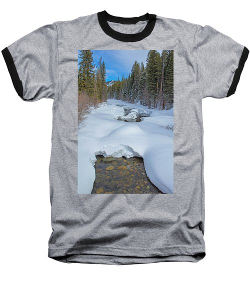 Looking Down The Elk Baseball T-Shirt