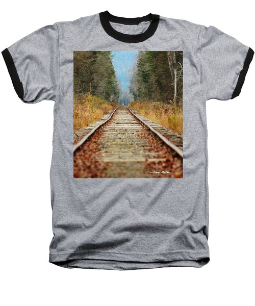 Looking Down The Tracks Baseball T-Shirt