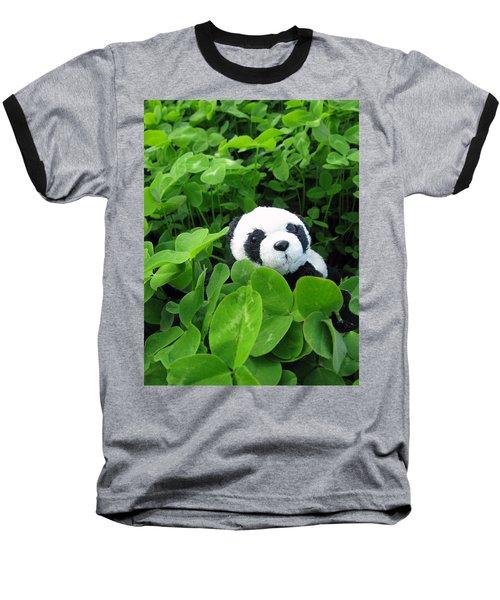 Baseball T-Shirt featuring the photograph Looking For A Lucky Clover by Ausra Huntington nee Paulauskaite
