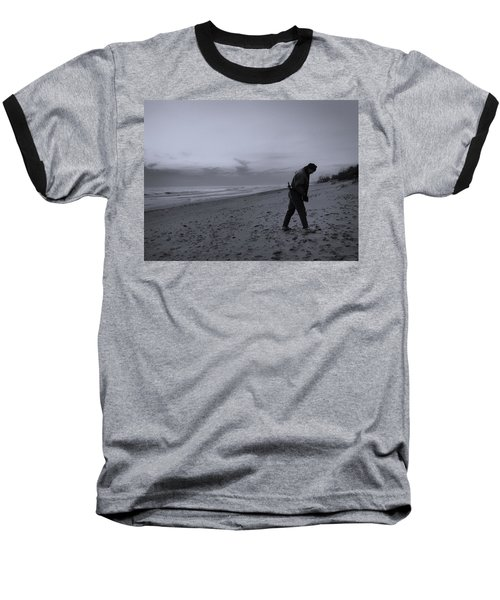Looking For A Smooth Stone  Baseball T-Shirt by John Hansen
