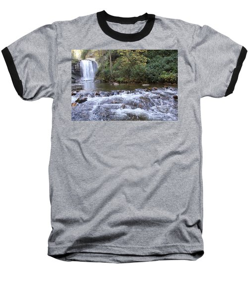 Looking Glass Falls Downstream Baseball T-Shirt