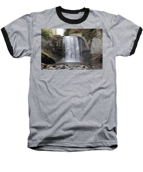 Looking Glass Falls Front View Baseball T-Shirt