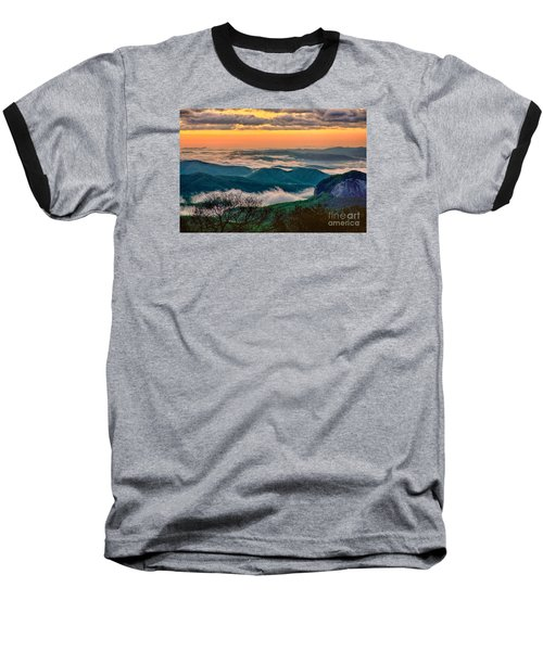 Looking Glass In The Blue Ridge At Sunrise Baseball T-Shirt