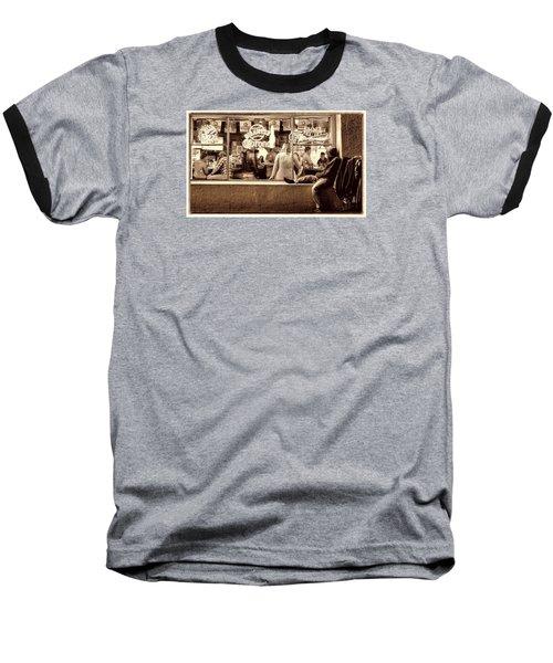Looking In Baseball T-Shirt by Steve Siri
