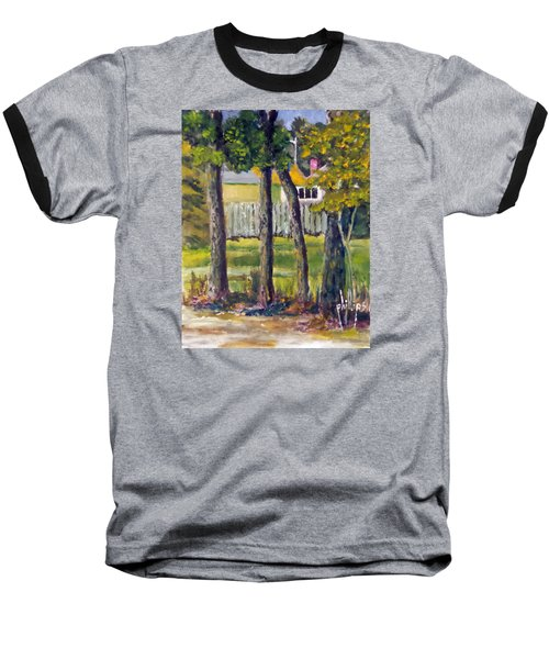 Looking Into Brenn Marr Baseball T-Shirt by Jim Phillips