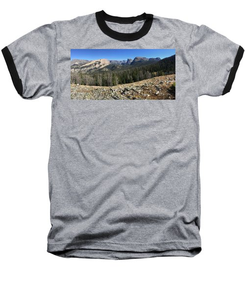 Looking Into The Bridger Wild Lands Baseball T-Shirt