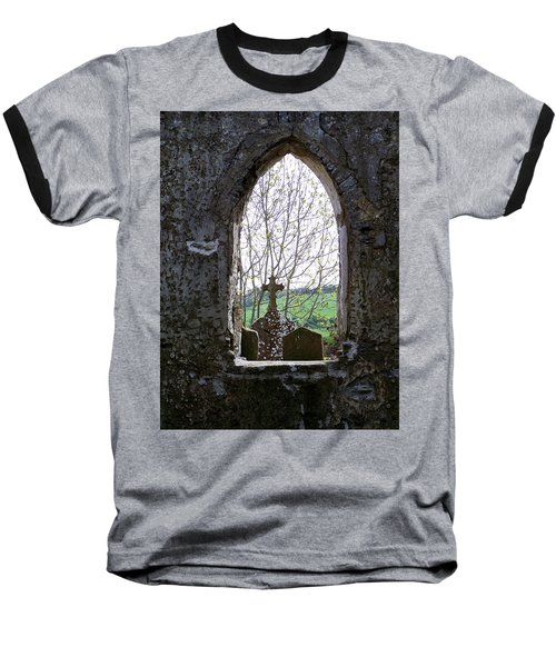 Looking Out Fuerty Church Roscommon Ireland Baseball T-Shirt