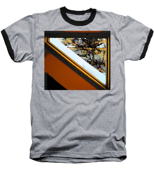 Looking Out My Brothers Window Baseball T-Shirt by Lenore Senior