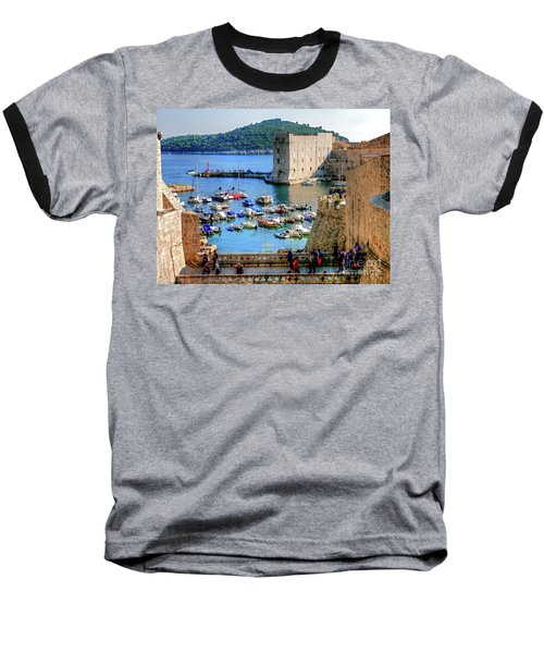 Looking Out Onto Dubrovnik Harbour Baseball T-Shirt