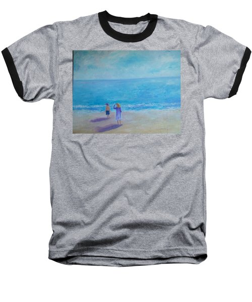 Looking Out To Sea Baseball T-Shirt